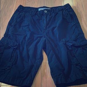 American Eagle Longboard Black Cargo shorts